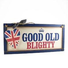 Heartwarmers Good Old Blighty Britannia Plaque Queen Elizabeth Ii Reign, Union Jack Decor, London Diary, Britain's Got Talent, Best Of British, Union Flags, Kingdom Of Great Britain, Wooden Plaques, White Crosses