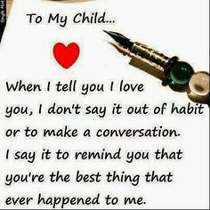 Mylove for my child