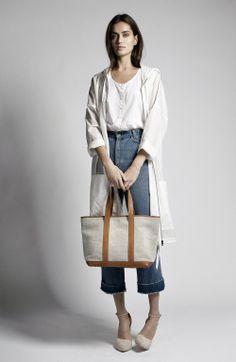 Samuji Summer Wardrobe | Sky Coat, Jessa Top, Small Tori Bag and Boyar Heel