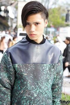 Harajuku Guy Wearing Christian Dada & American Apparel w/ Clutch & Creepers Seoul Fashion, Tokyo Fashion, Mens Fashion, American Guy, Chinese American, Japanese Street Fashion, Gyaru, Navy Pants, Creepers