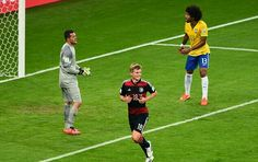 Brazil 1 Germany 7 in July 2014 in Belo Horizonte. Toni Kroos has just made it 4-0 in the World Cup Semi Final.