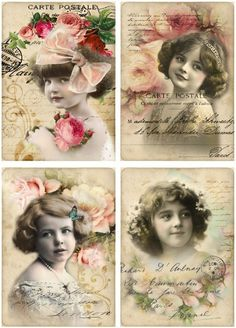 Kelly's: Brocante plaatjes voor scrapbooking/kaarten maken