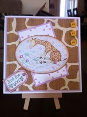 Giraffe Decoupage 6 x 6 Just for you card