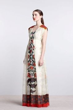 India Collections, Hemant + Nandita White Maxi Dress | Anthropologie Made in Kind May 2012