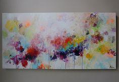 100 % peint à la main Peinture acrylique sur Galerie enveloppé de toile avec des agrafes au dos. (Merci pour votre visite ! Consultez ma boutique pour plus de peintures originales ici : http://www.etsy.com/shop/mimigojjang?ref=si_shop ****************************************************************************** Description de loeuvre Acrylique sur toile -Peinture titre : abstrait, -TAILLE : 48w x 24 x 1po, 5D -MOYEN:... Acrylique de qualité professionnelle sur toile 100 % coton plus bar...