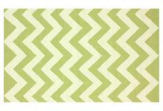 One Kings Lane - Modern Nomad - Alvin Flat-Weave Rug, Green