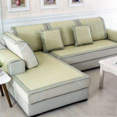 Real Home Inspiration: couch covers with cushions only on this page Cushions On Sofa, Couch Sofa, Floral Couch, Suede Sofa, Quality Sofas, Loveseat Covers, Outdoor Furniture Covers, Outdoor Couch, Apartment Sofa