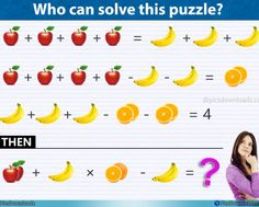 Apple, Banana, Orange – Viral Fruits Math Puzzle, Only for genius math puzzle