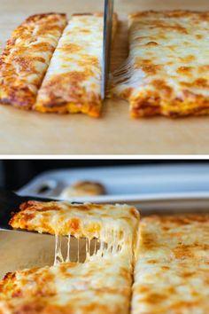 How to Make These 3 Ingredient Cheesy Cauliflower Breadsticks | Posh in Progress