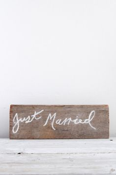 Rustic diftwood hand painted wedding sign//follow studio