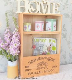 Recycled wine box key shelf  Chateau Grand Puy by BaxterandSnow