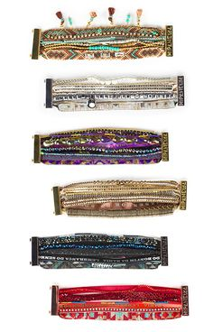 From the Joie Holiday Gift Guide: Hipanema started after two Parisian girls met in Brazil. Inspired by the vibrant colors of traditional Brazilian tie bracelets, the Hipanema bracelets are updated with a magnetic clasp with a variety of colorful thread, beads, seashells and pearls. (Bought the black one!)