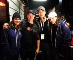 """""""Thanks to my pals from Criminal Minds: Beyond Borders @alana_delagarza @anniefunke1 @danielhenneyofficial for coming out to Salute to the Troops 2015 in…"""""""