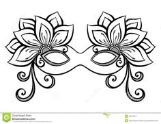 mardi gras mask template elegant mask for carnival party pirate