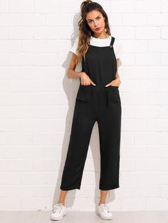 716009de160 Pinafore Jumpsuit- Black – WEARWHO ------ Follow  themolliemoon on