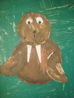 Walrus art craft