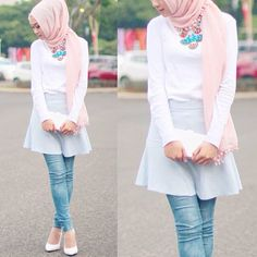 Mini skirt makes you feel young and  fun  pair it with a white plain top and white shoesies,  get the clean look! #nadafashiontipsandtricks