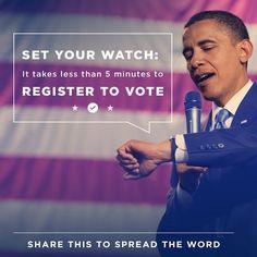 Obama llama a la participación electoral.