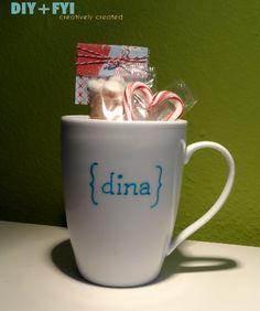 Porcelain marker mug DIY