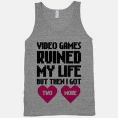 Video Games Ruined My Life #videogames #geek #nerdy #pixel #retro #heart