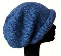 Baby Alpaca Slouch Beanie Hat by Halunder via Etsy