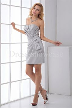 Wonderful Summer Short/ Mini Sheath/ Column Satin Bridesmaid Dresses