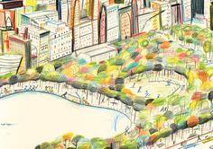 La Belle Illustration: Yann Kebbi, exposition Americanin, Galerie Michel Lagarde, du 28 novembre au 15 décembre 2012