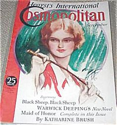 $76 Vintage 1932 Cosmopolitan magazine Horseback riding Lady with crop, Harrison Fisher Cosmo Cover Art