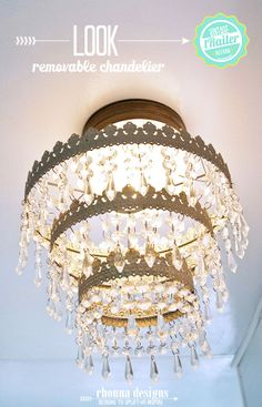 love this chandelier--in a trailer!  Rhonna DESIGNS: Meet Dazey...our vintage trailer!