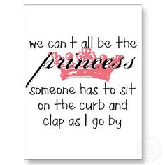 Emery = the princess.  Me = the happy and admiring curb clapper!  lol.  Thanks Lindsey.  :)