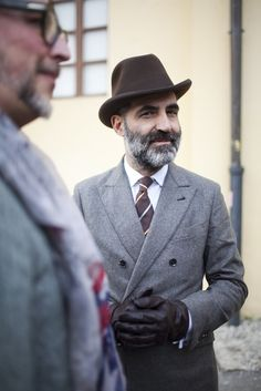 On the street in Florence during Pitti Uomo.