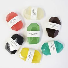 Pelle Soap Stones via @Matty Chuah Dieline
