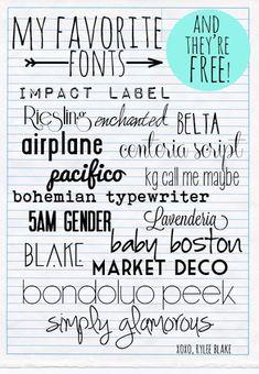 RyleeBlake: Fonts