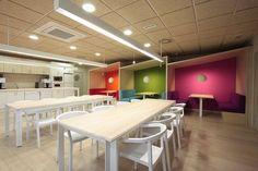Y Media - Madrid, 西班牙 - 2012 - Stone Designs Banquettes, Restaurant D, Navigation Design, Interior Design Career, Art Deco, Lunch Room, Stand Design, Commercial Design, Office Interiors