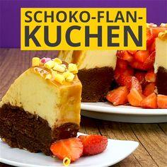 Schoko-Flan-Kuchen Chocolates, Flan Cake, Kinds Of Desserts, New Cake, Cake Videos, I Love Food, Great Recipes, Cookie Recipes, Cheesecake
