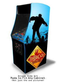 1 of 1: Multicade Arcade BLUE ZOMBIECADE Full Side Art set FitAnySIZ&Cab multigame MAME