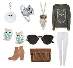 """""""#63 owls """" by holly-loves-cats ❤ liked on Polyvore featuring beauty, Aéropostale, WearAll, BERRICLE, 7 For All Mankind, River Island, The Cambridge Satchel Company and Christian Dior"""