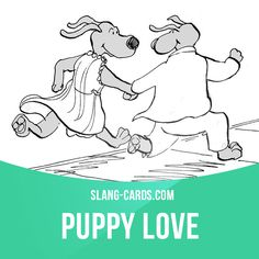"""Puppy love"" means immature love between young people or children. Example: I think my little son likes your little daughter. Puppy love is so sweet! Get our apps for learning English: learzing.com"