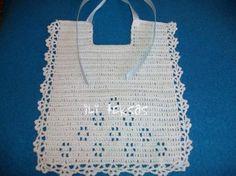 Como hacer baberos de crochet - Imagui