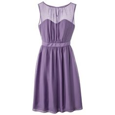 I just remembered that Target has a line of bridesmaid dresses! They're all around $70 which is nice and most of them could easily be worn again. The downside is, there aren't many pastel purples (most are more plum or royal purple), plus they would have to be ordered online - they don't carry in stores that I know of. This one could either be really nice & classy, or maybe a little matronly when on? @Lindsy Davis @Lizette Davis @Lora Davis