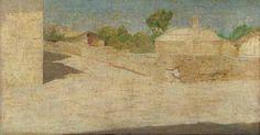 Paesaggio: Piazza Malaspina a Volpedo 1892