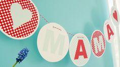 Dekoration - GIRLANDE ♥ MAMA ♥ PDF - ein Designerstück von millimi bei DaWanda