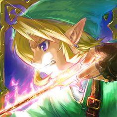 The Legend of Zelda, Link / 「炎の矢」/「猫の湯」のイラスト [pixiv]