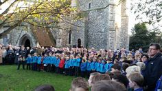 At Wivenhoe Centotaph were beavers, rainbows, cubs, brownies, guides, scouts to remember those who have fallen during conflict. 9.11.2014