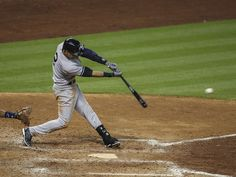 April 1: Derek Jeter connects for his first hit of the 2014 season in the eighth inning against the Astros.