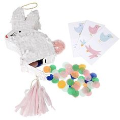 These cute bunny mini-pinatas are perfect to add fun to your Easter celebration. Each pinata contains lots of colorful tissue confetti and 3 sheets of bunny and chick temporary tattoos. Pack contains 3 mini pinatas. Mini Pinatas, Bunny Party, Easter Party, Easter Food, Easter Dinner, Party Bags, Party Favors, Party Shop Online, Unique Kids Toys