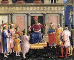 Saint Cosmas and Saint Damian before Lisius, 1438-1440 - Fra Angelico -