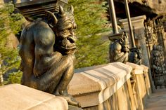 Gargoyle at Be Our Guest Restaurant, Magic Kingdom, Disney World