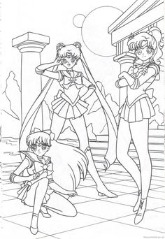 Sailor Moon Coloring Pages, Coloring Book Pages, Coloring Sheets, Sailor Moon Girls, Sailer Moon, Moon Illustration, Colour Board, Beading Patterns, Fashion Art