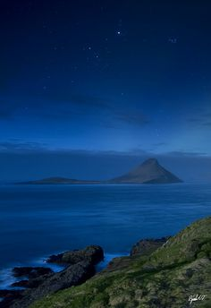 Koltur by night - Faroe Island, #Denmark   #beautiful #photography
